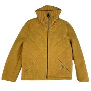 Geisswein 36 Pure Wool Jacket Mustard Yellow Zip